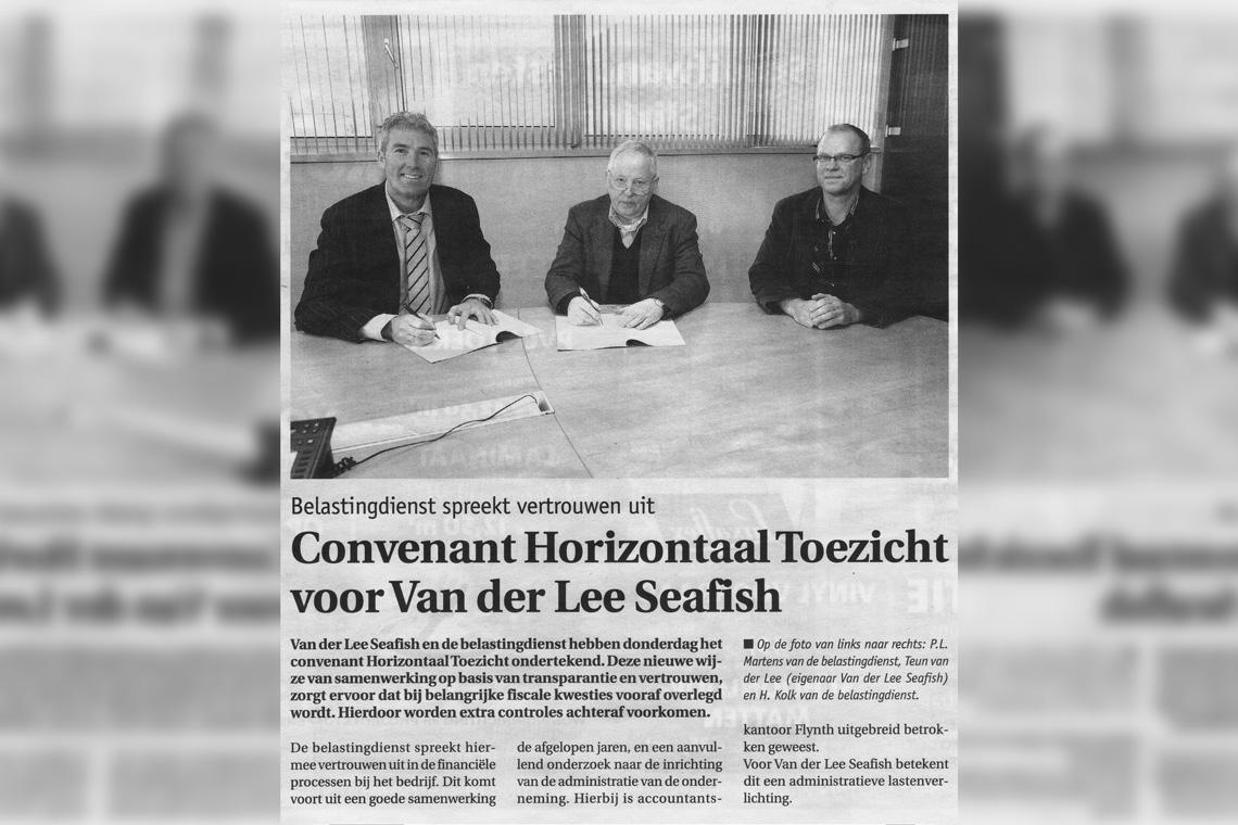 Van der Lee Seafish y el Departamento de Impuestos Firman un Acuerdo