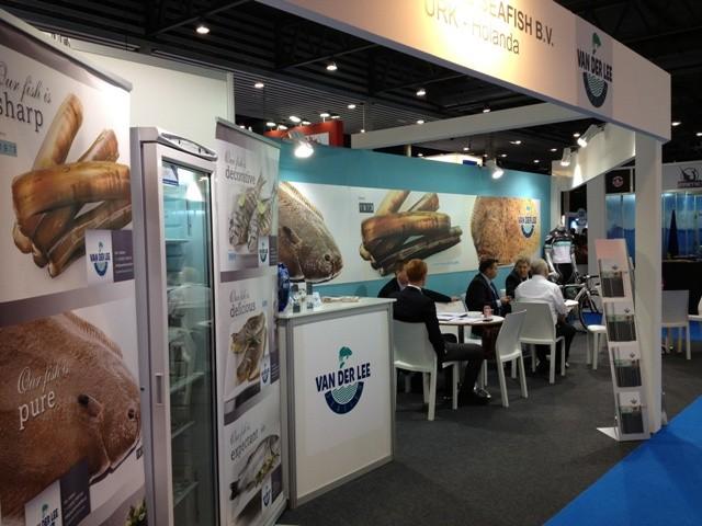 Exhibición de productos de mar en Barcelona